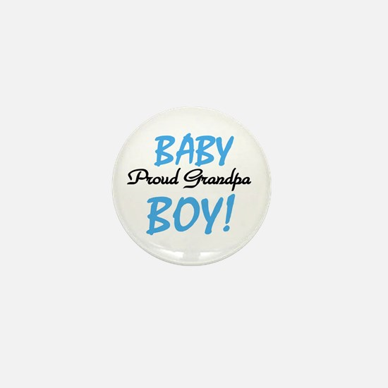 Baby Boy Proud Grandpa Mini Button