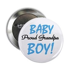 Baby Boy Proud Grandpa Button