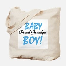 Baby Boy Proud Grandpa Tote Bag