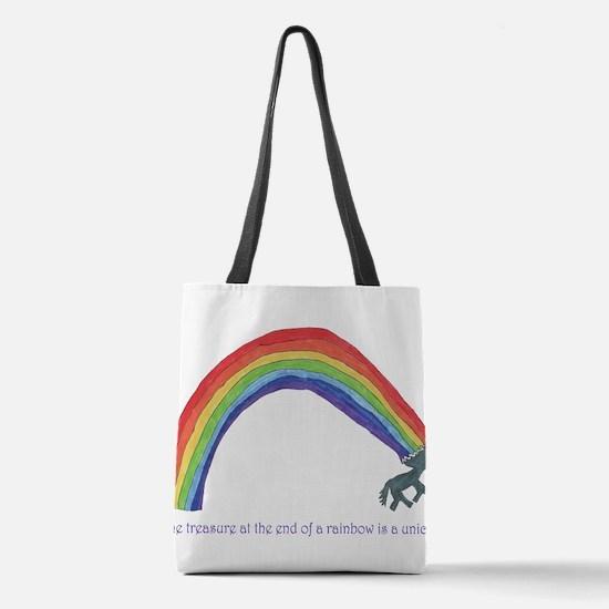 Unicorns = Rainbow Treasure Polyester Tote Bag