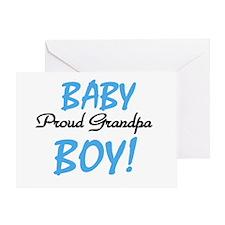 Baby Boy Proud Grandpa Greeting Card