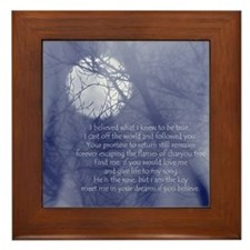Moon Song Framed Tile