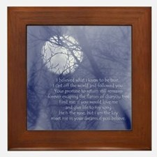Moon Song Framed Tile