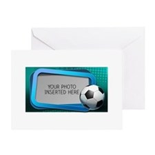 Soccer Debate L Greeting Card