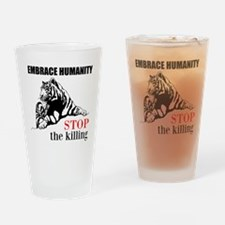 Embrace Humanity Drinking Glass