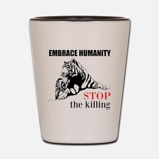 Embrace Humanity Shot Glass