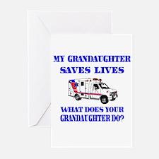 Ambulance Saves Lives- Granda Greeting Cards (Pk o