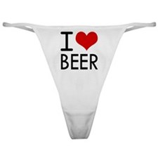 I Love Beer Classic Thong