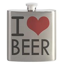 I Love Beer Flask