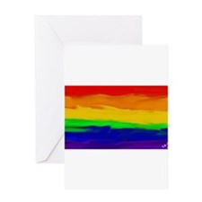 GAY PRIDE RAINBOW ART SIGNED Greeting Cards