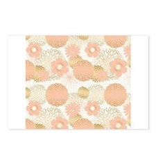 Modern trends blush flowers Postcards (Package of
