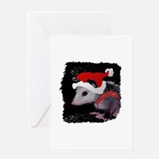 Possum Santa Greeting Card