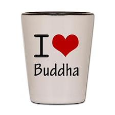 I Love Buddha Shot Glass