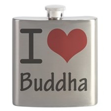 I Love Buddha Flask
