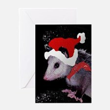 Possum Santa Greeting Cards