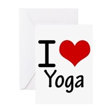 I Love Yoga Greeting Cards
