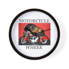 Motorcycle Wheek! Wall Clock