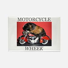 Motorcycle Wheek! Rectangle Magnet
