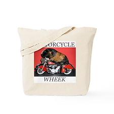 Motorcycle Wheek! Tote Bag