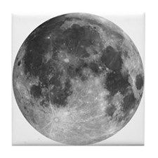 Beautiful full moon Tile Coaster