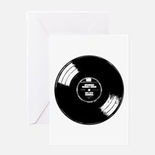 Vinyl record Greeting Card