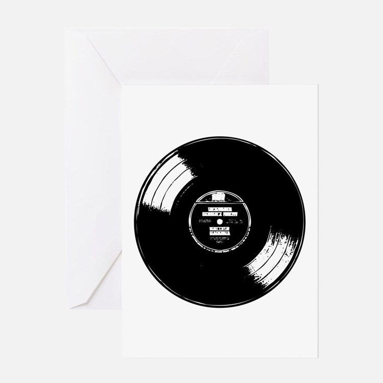 Vinyl record Greeting Card