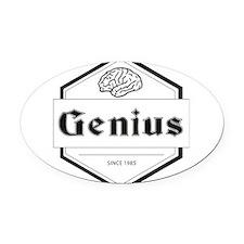 genius Oval Car Magnet