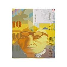 Cute Currency Throw Blanket
