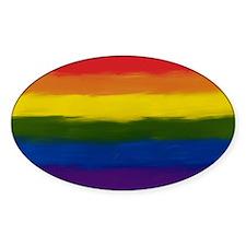 gay pride rainbow art Decal
