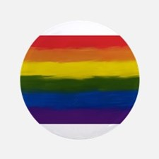 "GAY PRIDE RAINBOW FLAG PAIN 3.5"" Button (100 pack)"