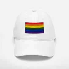 GAY PRIDE RAINBOW FLAG PAINT ART SIGNED Baseball Baseball Cap