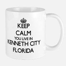 Keep calm you live in Kenneth City Florida Mugs
