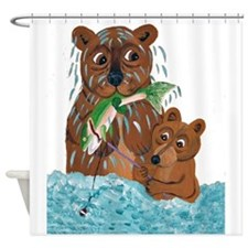 Bear Fishing Lesson Shower Curtain