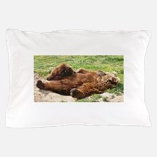 Sleeping Brown Bear Pillow Case
