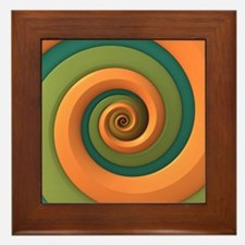 Tri-colored Spiral Framed Tile