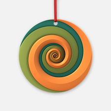 Tri-colored Spiral Ornament (Round)