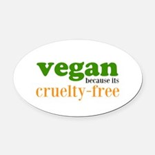 Cruelty Free Oval Car Magnet