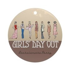 Girls' Day Bachelorette Ornament (Round)
