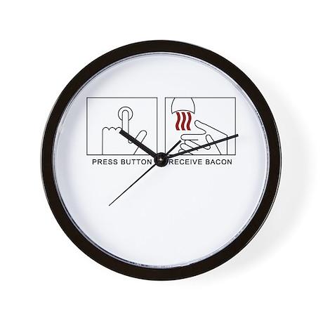 'Receive Bacon' Wall Clock