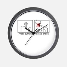 'Receive Bacon' Wall Clock