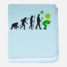 Funny Paintball baby blanket