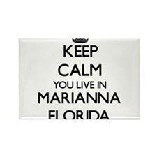Keep calm you live in Marianna Florida Magnets