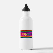 gay rainbow cats art P Water Bottle