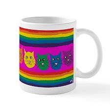gay rainbow cats art PAINT ART Mugs