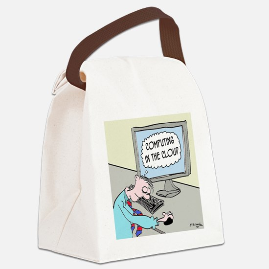 Computer Cartoon 9249 Canvas Lunch Bag
