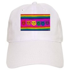 gay rainbow cats art PAINT ART Baseball Cap