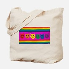 gay rainbow cats art PAINT ART Tote Bag