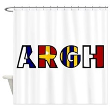 Argh Shower Curtain