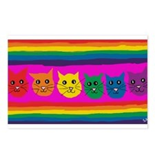 gay rainbow cats art PAIN Postcards (Package of 8)