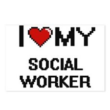 I love my Social Worker Postcards (Package of 8)